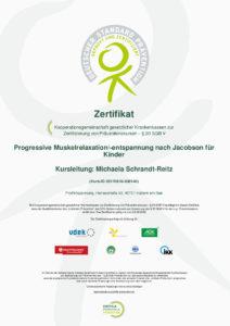 Zertifikat PT für Kinder